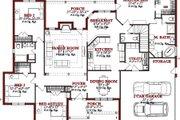 European Style House Plan - 4 Beds 2.5 Baths 2432 Sq/Ft Plan #63-187 Photo