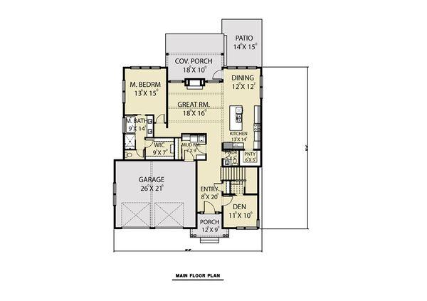 Contemporary Floor Plan - Main Floor Plan Plan #1070-77