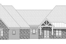 Country Exterior - Front Elevation Plan #932-313