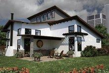 Dream House Plan - Modern Exterior - Rear Elevation Plan #472-7