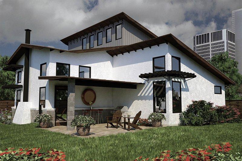 Modern Exterior - Rear Elevation Plan #472-7 - Houseplans.com