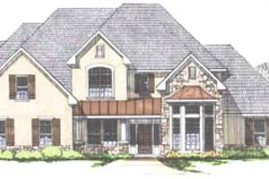 Traditional Exterior - Front Elevation Plan #43-107