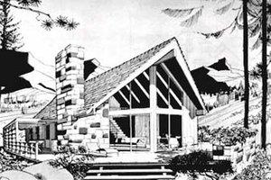 Modern Exterior - Front Elevation Plan #12-118