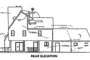 Contemporary Style House Plan - 3 Beds 2.5 Baths 1799 Sq/Ft Plan #312-768 Exterior - Rear Elevation