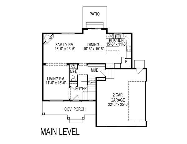 Traditional Floor Plan - Main Floor Plan Plan #920-27