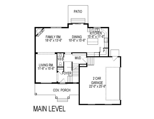 Traditional Floor Plan - Main Floor Plan Plan #920-27