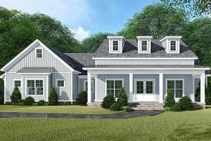 Dream House Plan - Country Exterior - Front Elevation Plan #923-129