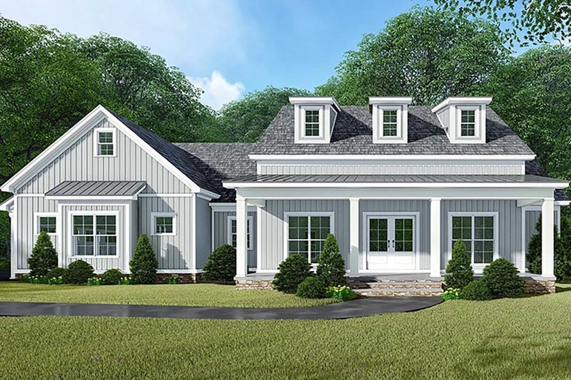 Architectural House Design - Country Exterior - Front Elevation Plan #923-129