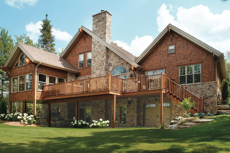 Craftsman Exterior - Rear Elevation Plan #23-419 - Houseplans.com