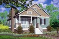 Cottage Style House Plan - 3 Beds 2 Baths 1428 Sq/Ft Plan #30-104 Exterior - Front Elevation