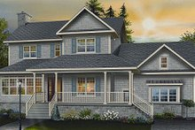 Home Plan - Country Exterior - Front Elevation Plan #23-745
