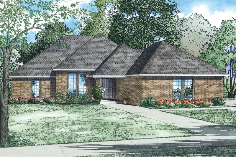 Traditional Style House Plan - 3 Beds 2 Baths 1797 Sq/Ft Plan #17-2515 Exterior - Other Elevation