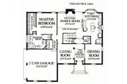 Colonial Style House Plan - 3 Beds 3 Baths 2784 Sq/Ft Plan #137-135 Floor Plan - Main Floor Plan