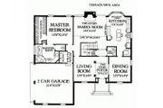 Colonial Style House Plan - 3 Beds 3 Baths 2784 Sq/Ft Plan #137-135 Floor Plan - Main Floor Plan