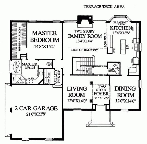 Main Level Floor Plan- 2800 square foot Colonial home