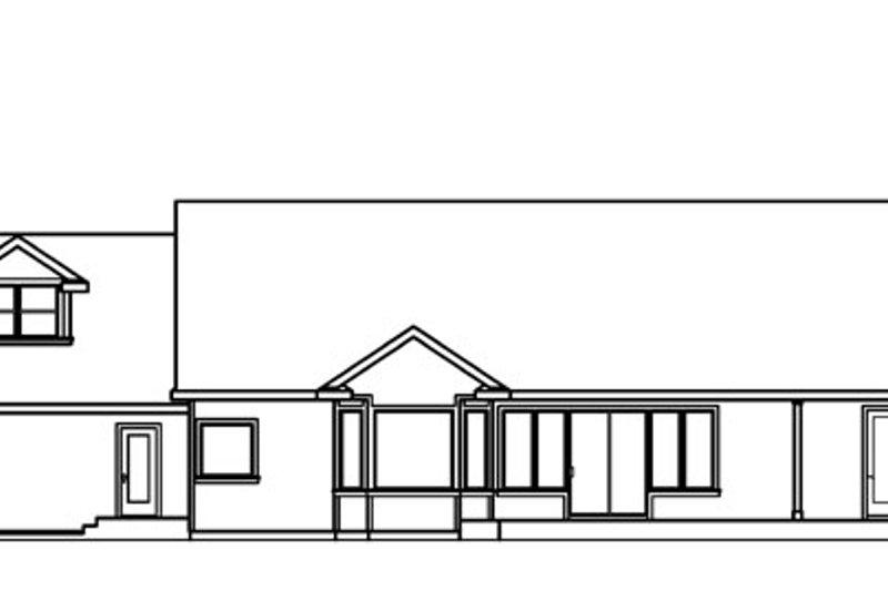 Ranch Exterior - Rear Elevation Plan #124-543 - Houseplans.com