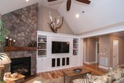 European Style House Plan - 4 Beds 3 Baths 2324 Sq/Ft Plan #929-27 Interior - Family Room