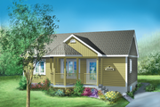 Cottage Style House Plan - 2 Beds 1 Baths 900 Sq/Ft Plan #25-1183