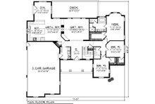 Ranch Floor Plan - Main Floor Plan Plan #70-1101