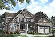 Craftsman Style House Plan - 4 Beds 3 Baths 2755 Sq/Ft Plan #17-2133 Exterior - Front Elevation