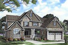 House Plan Design - Craftsman style house design, front elevation