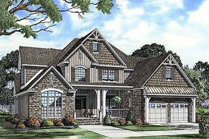 Craftsman style house design, front elevation