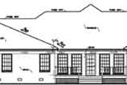 European Style House Plan - 4 Beds 3.5 Baths 3042 Sq/Ft Plan #36-228 Exterior - Rear Elevation