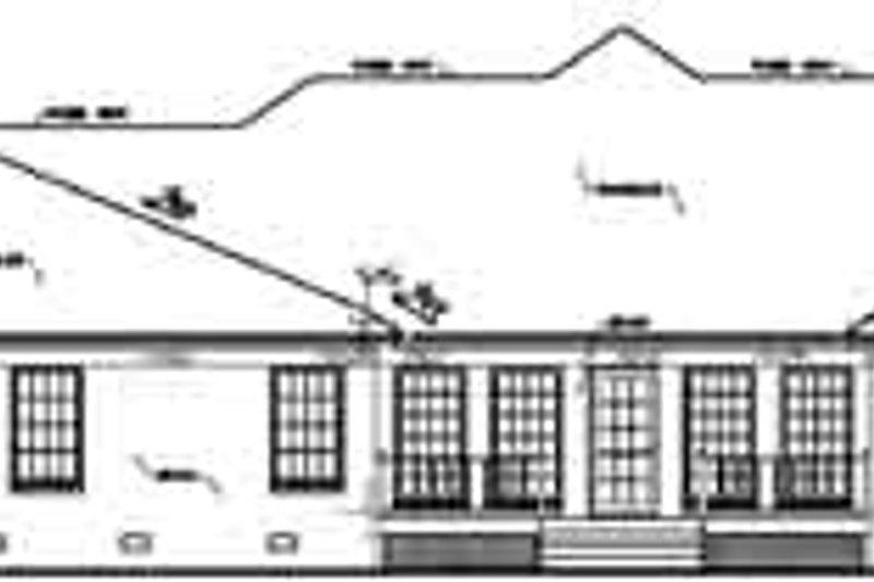 European Exterior - Rear Elevation Plan #36-228 - Houseplans.com