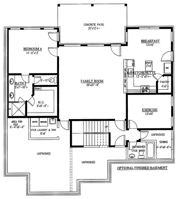 Architectural House Design - Optional Finished Basement (included)