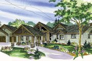 Craftsman Style House Plan - 3 Beds 3 Baths 3537 Sq/Ft Plan #124-777 Exterior - Front Elevation