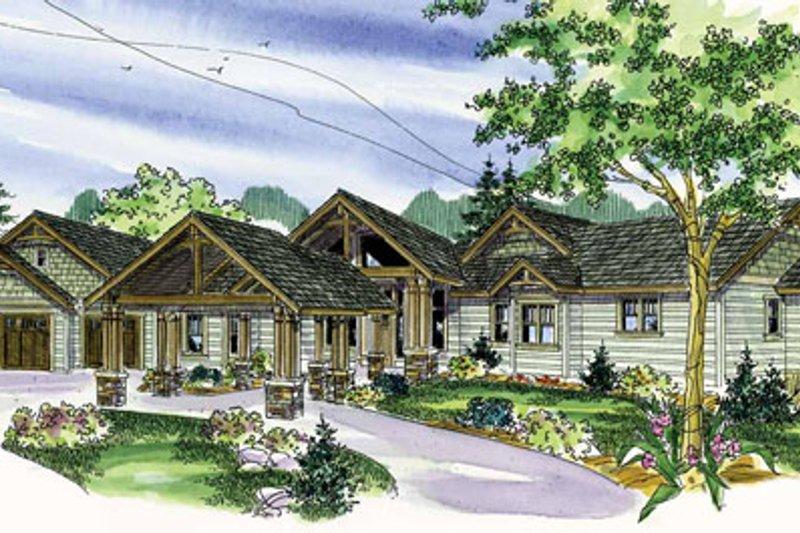 Dream House Plan - Craftsman Exterior - Front Elevation Plan #124-777
