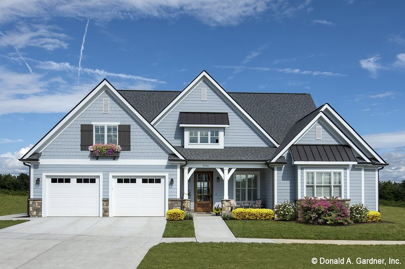 European Style House Plan - 3 Beds 2.5 Baths 2170 Sq/Ft Plan #929-859 Exterior - Front Elevation