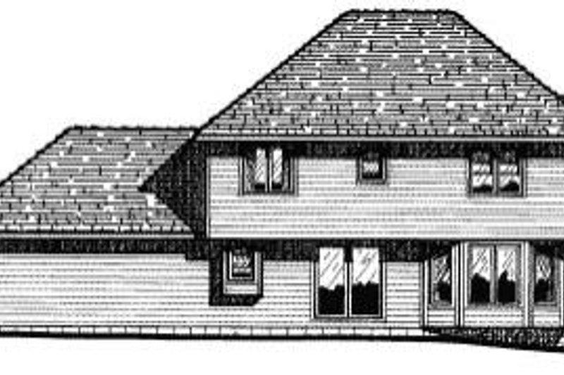 Traditional Exterior - Rear Elevation Plan #20-692 - Houseplans.com