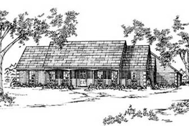 Architectural House Design - Ranch Exterior - Front Elevation Plan #36-146