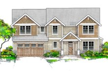 Craftsman Exterior - Front Elevation Plan #53-654