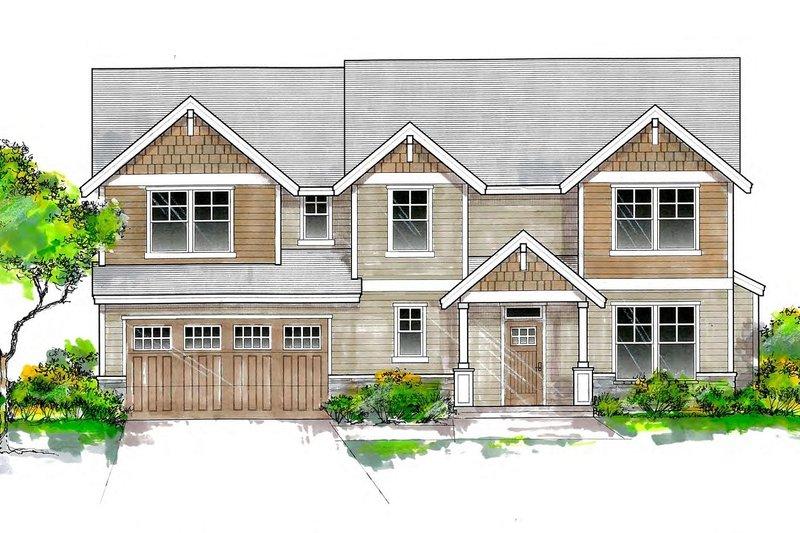 Dream House Plan - Craftsman Exterior - Front Elevation Plan #53-654