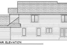 House Plan Design - Traditional Exterior - Rear Elevation Plan #70-831