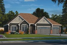 House Plan Design - Country Exterior - Front Elevation Plan #20-2192