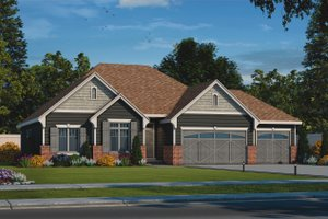 Country Exterior - Front Elevation Plan #20-2192