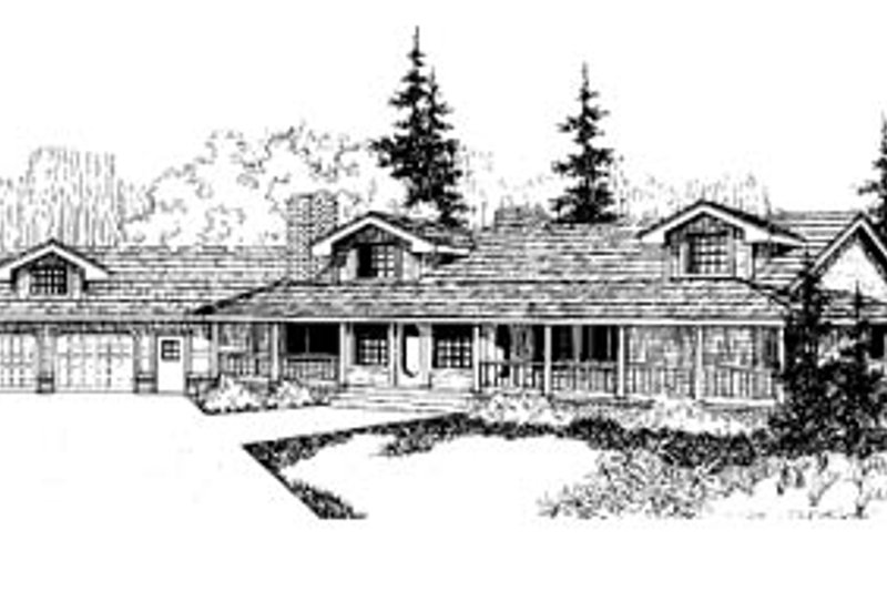 Country Exterior - Front Elevation Plan #60-167 - Houseplans.com