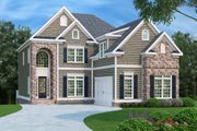 Traditional Style House Plan - 4 Beds 4.5 Baths 3249 Sq/Ft Plan #419-169 Exterior - Front Elevation
