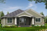 Traditional Style House Plan - 3 Beds 2 Baths 1488 Sq/Ft Plan #132-195 Exterior - Rear Elevation