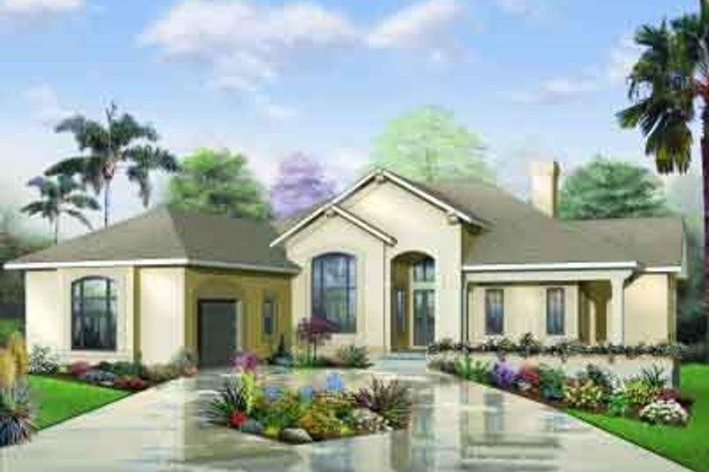 Dream House Plan - Mediterranean Exterior - Front Elevation Plan #23-559