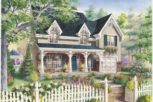 Country Exterior - Front Elevation Plan #25-4791