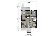Contemporary Style House Plan - 9 Beds 3 Baths 3663 Sq/Ft Plan #25-4548 Floor Plan - Lower Floor Plan
