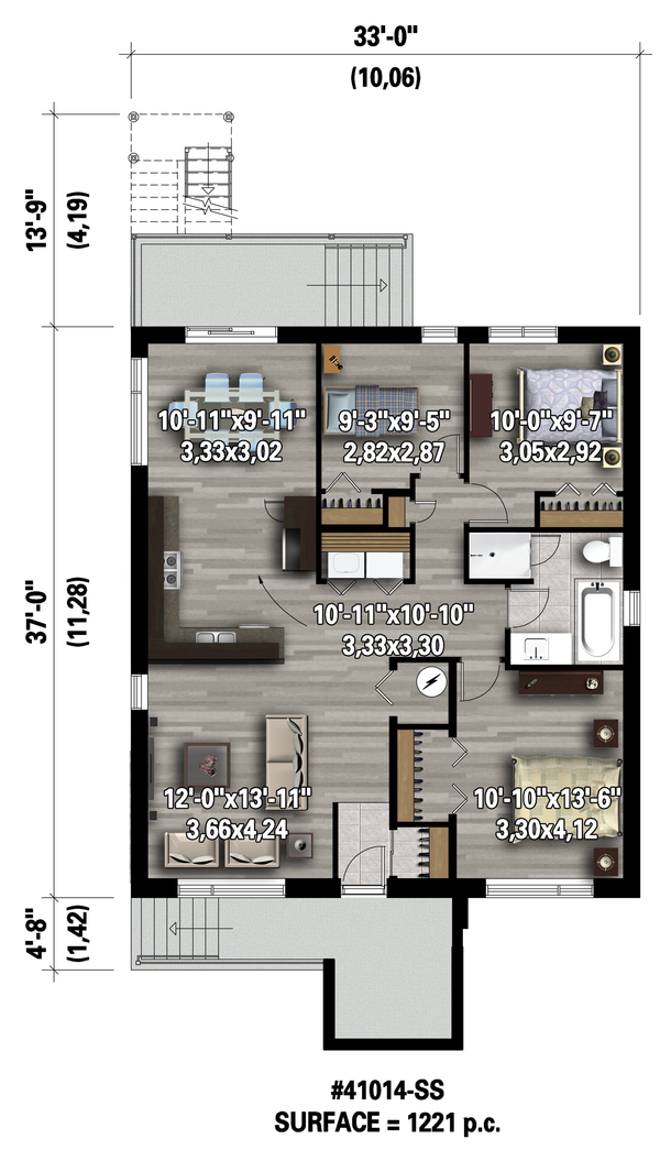 Contemporary Floor Plan - Lower Floor Plan Plan #25-4548