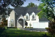 European Style House Plan - 4 Beds 4 Baths 3358 Sq/Ft Plan #1-1108 Exterior - Front Elevation