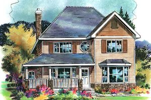 Traditional Exterior - Front Elevation Plan #18-4508