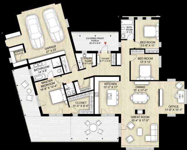 Home Plan - Modern Floor Plan - Main Floor Plan #924-4
