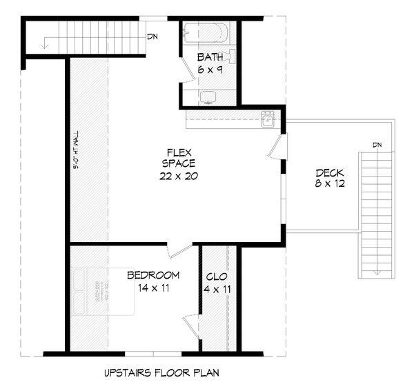Country Floor Plan - Upper Floor Plan #932-91